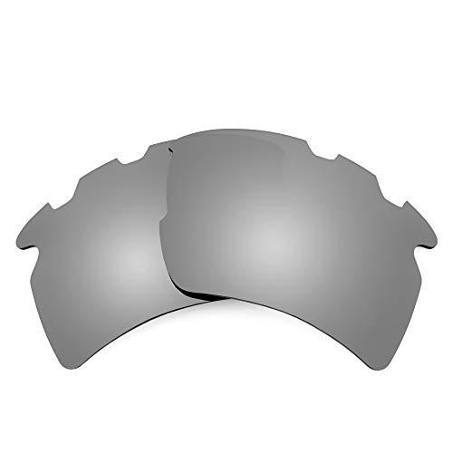 Revant Lentes de Repuesto Compatibles con Gafas de Sol Oakley Flak 2.0 XL Vented (Ajuste Asiático), Polarizados, Elite Titanio MirrorShield