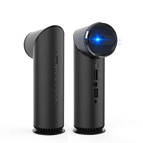 EEUK Proyector para películas al aire libre, proyector LED portátil de cine en casa 1080P y 200 pulgadas, compatible con mini proyector recargable compatible con HDML/DC/TF/PS5/USB/iPhone, etc.