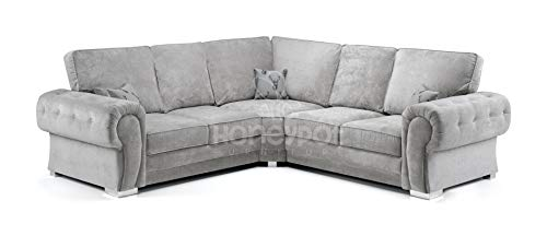 Honeypot – Sofa – Verona – Fullback – Corner Sofa – 3 Seater – 2 Seater – Footstool (Beige, 2 Seater)