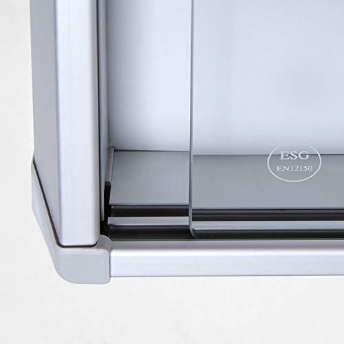 Vitrina 8 X A4 B1 Aluminio con Puertas Correderas Cuadro de Información Interior Protección contra Incendios ...