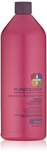 Pureology Smooth Perfection Shampoo,For Frizz-Prone Color Treated Hair,Sulfate-Free,Vegan