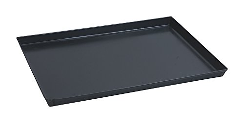 Paderno 41745-50 Teglia Rettangolare in ferro blu – Stampo da forno antiaderente, bordi alti, utilizzabile come vassoio, 50 x 35 cm, Altezza 3 cm