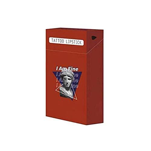 Einweg-Lippenstift, 20pcs/Set Zigaretten-Wattestäbchen-Lippenstift, wasserfester Einweg-Lippenstift, Lippenbalsam für Mädchen, Lippenfarbstoff-Lippenstift, 5