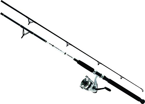 Daiwa DWB50-B/F902M D-Wave Saltwater Spinning Combo, 1 Bearing, 9' Length, 2Piece Rod, Medium Power, Fiberglass Blank Material