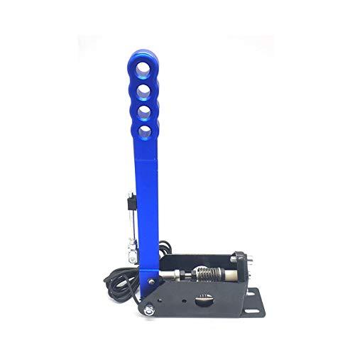 Naliovker Freno de Mano USB de Abrazadera de PC SIM de 14 Bits para Racing Games Sistema G27 / G29 / T300 / T500 con Accesorio de Freno de Mano LFS DIRT-Azul
