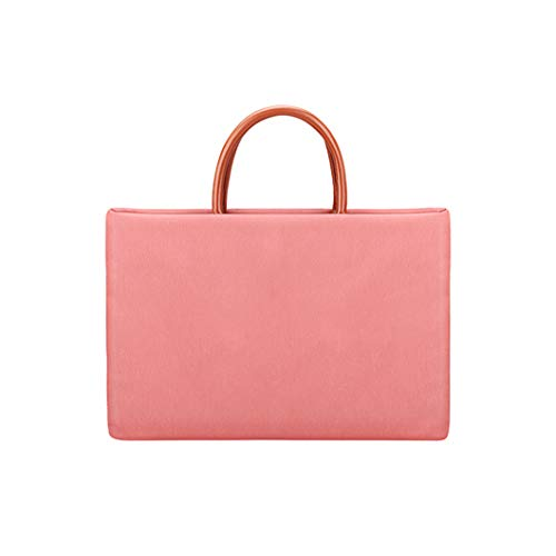 Men's and Women's Business Laptop Bag, Multi-function Card Multi-function Briefcase, Breathable and Waterproof Shiris Material-nylon Lining, 42cm * 29.5cm * 3.0cm Pink