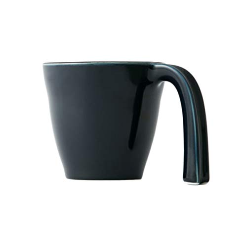 Ergonomic Mug - Navy Blue, Made in Japan, Stackable, Easy to Hold, Hasami Ware