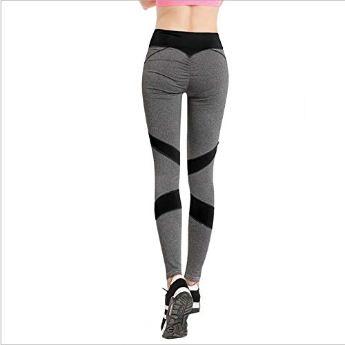 Leggings Moda Corazón Fitness Leggings Mujer Entrenamiento Leggings Delgados Patchwork Poliéster Jeggings Ropa Deportiva Pantalones Mujer S