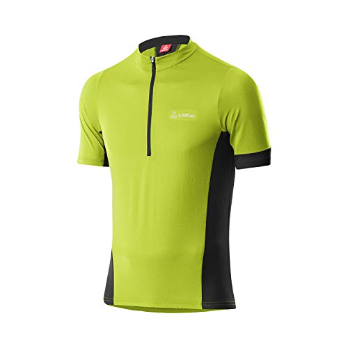 LÖFFLER Pure Half-Zip Fahrradtrikot Herren grün Größe EU 56 2021 Radtrikot kurzärmlig
