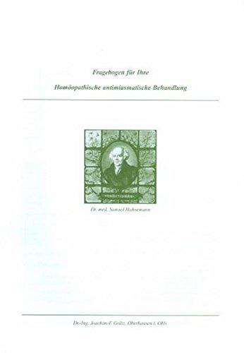 Fragebogen für Ihre Homöopathische antimiasmatische Behandlung: Erwachsenenfragebogen