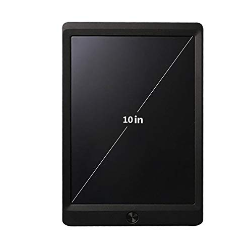RFGHJ Portable Writing Tablet, Digital Drawing Writing Handwriting Electronics Graphic Tablets Message Board, for Students, Office Staff, Etc 10In,Black