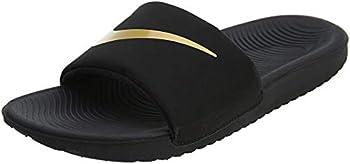 Nike Kids Kawa Slide  Gs/Ps  Sandal  Black/Gold Numeric_6