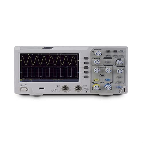JIYAMI'EN EL S.S Hhua Osciloscopio de Almacenamiento Digital, 2 Canales 200MHz de Ancho de Banda 7 Pulgadas de Mano LCD Pantalla portátil USB Osciloscopios