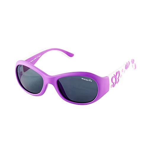 Mausito® Gafas de sol Niña 2-4 años I FLEXIBLES Gafas de sol para niñas con 100% PROTECCIÓN UV I Gafas de sol infantiles Lila & Blanco I Genial regalo de chicas I Gafas de sol de goma para niña