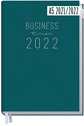 Chäff Business-Timer 2021/2022 A5 [Petrol] Terminplaner, Wochenkalender 18 Monate: Jul 2021 - Dez 2022 | Terminkalender, Wochenplaner, Organizer | klimaneutral und nachhaltig