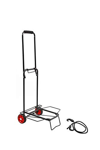BAAB ORGANIZING Lightweight Folding Heavy Duty Kit Trolley Black Travel Truck Luggage Suitcase Warehouse Cart for Camping Fishing Holidays,85X32X37.5CM