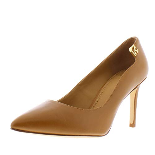 Price comparison product image Tory Burch Womens Elizabeth Leather Slip On Pumps Tan 9 Medium (B, M)