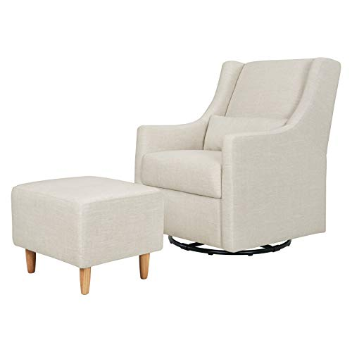Babyletto Toco Upholstered Swivel Glider and Stationary...