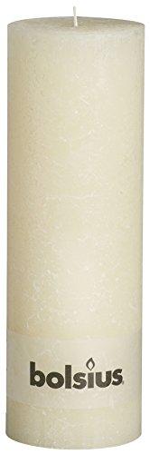 Rustic Stumpenkerze, Paraffinwachs, Farbe: Elfenbein,103867210305