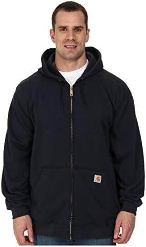 Carhartt Men's MidWeight Hooded Zip Front Sweatshirt,New Navy,Large/Tall