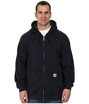 Carhartt Men s Midweight Hooded Zip-front Sweatshirt,New Navy,Large