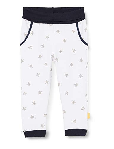 Steiff Jogginghose mit Sternen und Taschen,Weiß (BRIGHT WHITE 1000) (Herstellergröße:50)