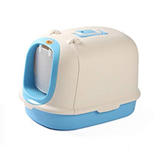 Tiancay Mobile Katzentoilette Ist Bequem, Groß, Langlebig, Sicher Und Leicht Zu Reinigen (Color : Blue)