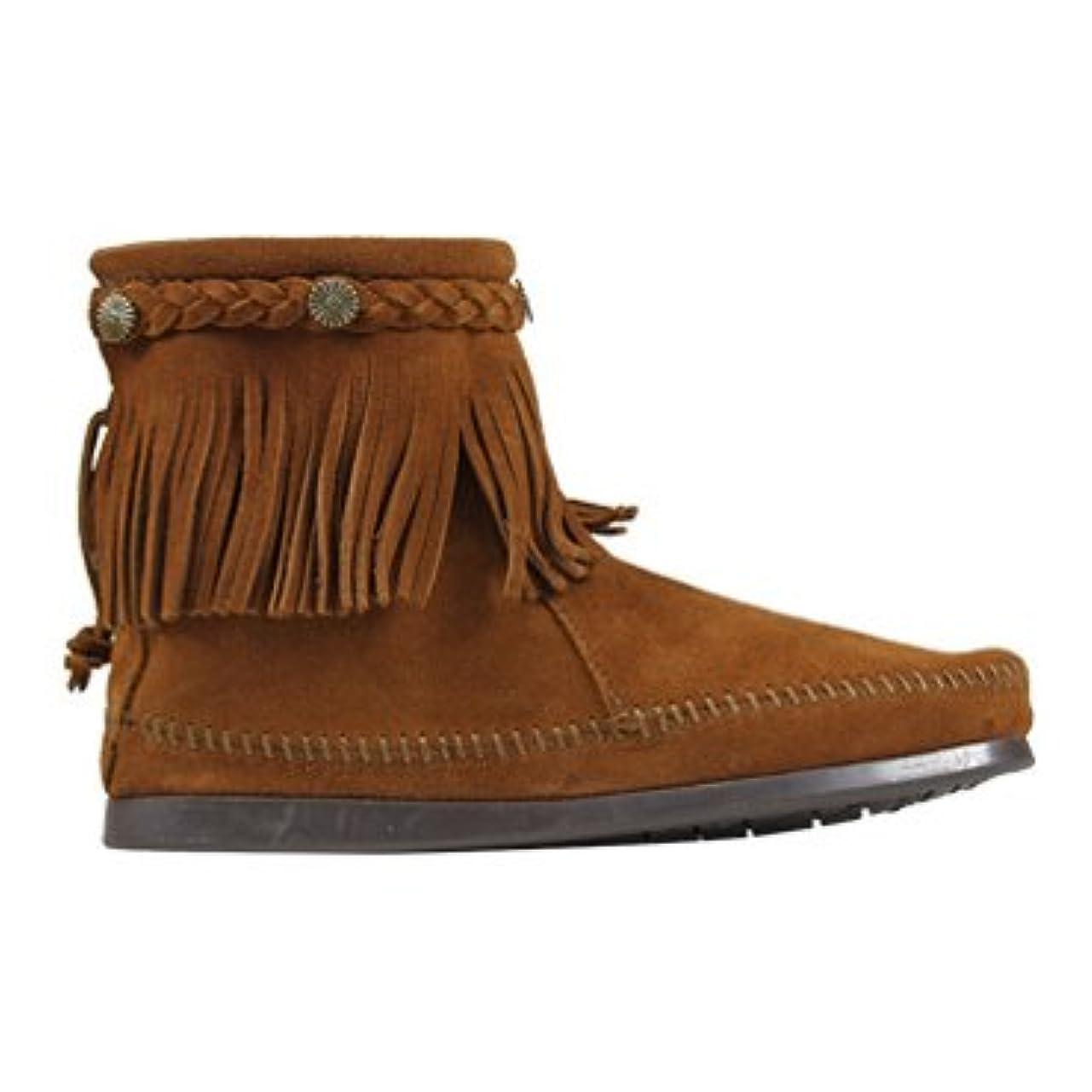援助するタバコ素子[ミネトンカ] 292 HI TOP BACK ZIP BOOT ハイ トップ バック ジップ ブーツ US8.5(約25.0-25.5cm) BROWN[ 292 ](並行輸入品)