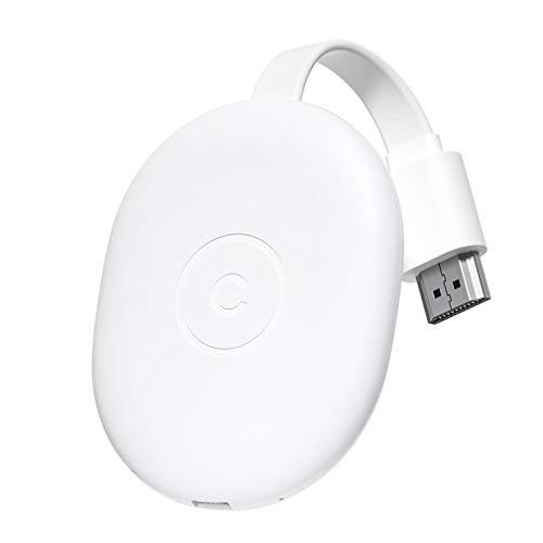 C42 Adaptador inalámbrico de Cable de alimentación USB 2.4G WiFi Airplay Compatible con HDMI (Blanco)