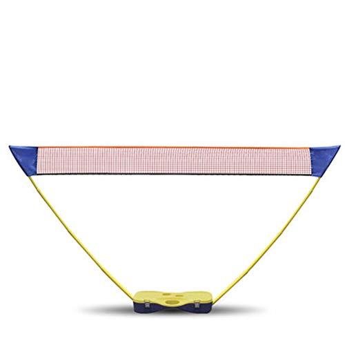 ljh1024 Mobile Volleyball, Badminton und Tennisnetze Höhenverstellbar Federballnetz mit Ständer Hammer 3 in 1Geeignet für Innen, Außen, Strand, Park 73CM*34CM*14CM