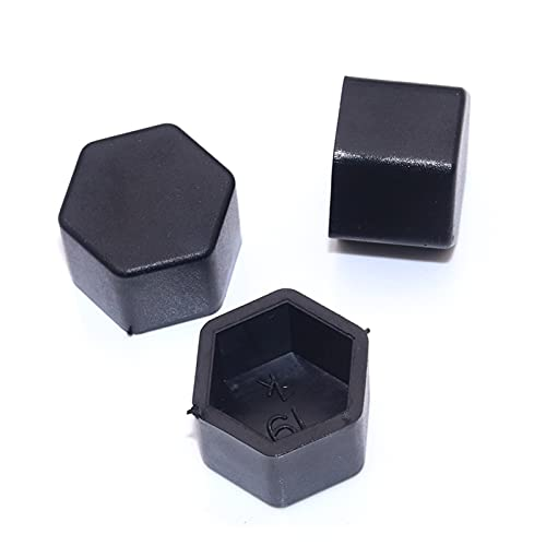 YYAN Wooeight 20x 19 mm Tuerca de la Rueda de automóvil Tornillo Cubierta de Cabeza Cap Cap DE Perro Caps Exterior HEXAGONSAL Decoración de la decoración Protección de Llantas (Color Name : Black)