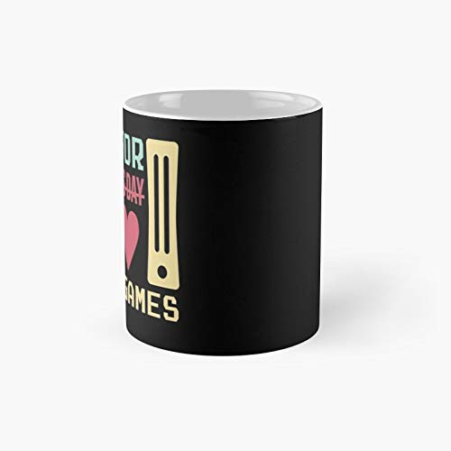 V Is For Video Games -2021 Saint Valentine's Day Funny Gift Kids Gamers Game Lovers Classic Mug - 11 Oz.