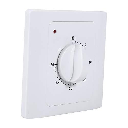 KUIDAMOS Presa a Risparmio energetico, Presa Timer Interruttore Timer Comodo da sostituire rispettoso dell'ambiente per Gli elettrodomestici