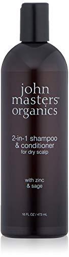 John Masters Organics Champú y Acondicionador 2 en 1 para Cuero Cabelludo Seco con Zinc y Salvia 473 ml