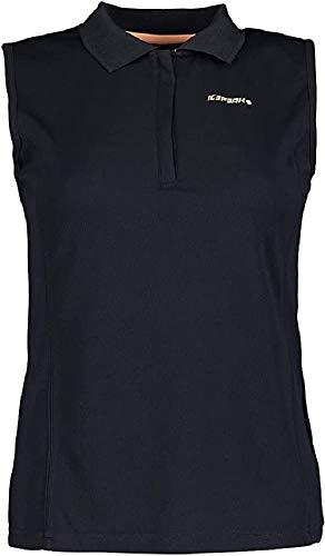ICEPEAK Poloshirt für Damen BAZINE, schwarz, M