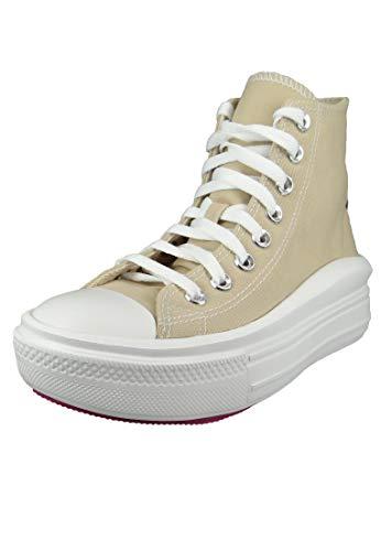 Converse Chuck Taylor All Star Lift Clean, Zapatillas para Mujer, Beige, 37 EU