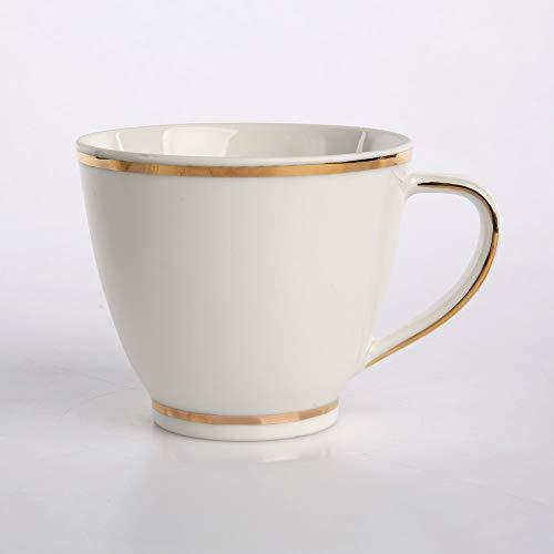 MariaPaula KOMBISERVICE Kaffeeservice Teeservice Tafelservice Chodziez Ecru mit Goldstreifen Nova Porzellan (Tasse 250 ml)