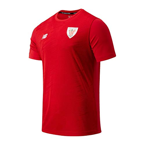 New Balance Athletic Club T-Shirt Mc Pre Game - beheiztes Trikot für Herren M rot (Team Red)