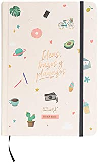 Mr. Wonderful Agenda Bullet Atemporal-Ideas, Trazos y planazos, Multicolor, 0