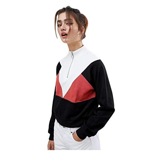 Longra Damen 2 in 1 Langarm Sweatshirt Pullover mit Kapuze Langarmshirt Blusen Sport Zopfmuster Sport Hoodie