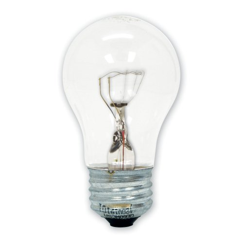 GE Appliance Incandescent Light Bulb, A15 Bulb, 40-Watt, 415 Lumen, Medium Base, Soft White, 1-Pack, Oven Light Bulb, Refrigerator Light Bulb, Microwave Light Bulb