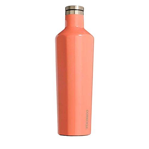 Corkcicle Classic Botella isotérmica, Acero Inoxidable, Gloss Peach Echo, 74 cl