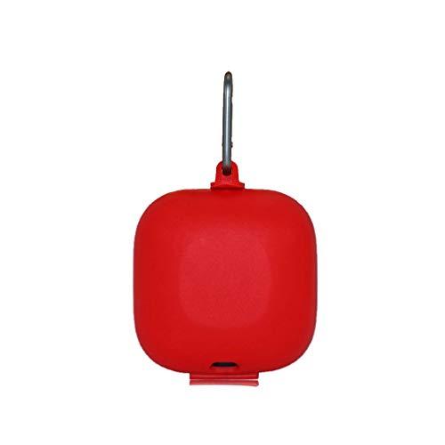 UKCOCO Compatible para Beats Powerbeats Pro Funda de Silicona Funda Protectora a Prueba de Golpes con Funda Protectora de Auriculares Inalámbricos con Mosquetón - Rojo