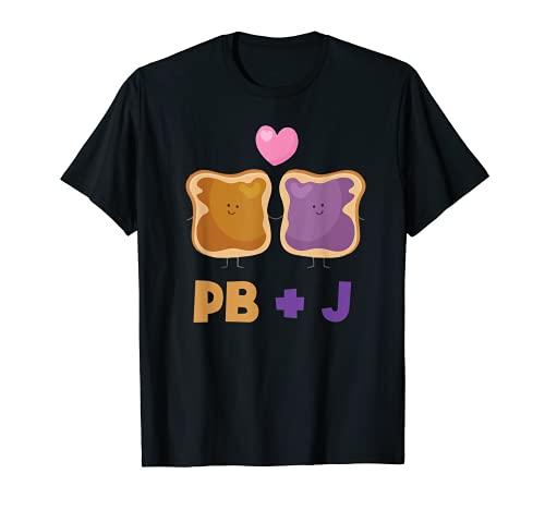 Mantequilla de man Jalea a juego BFF Disfraz de Mantequilla de Man Camiseta