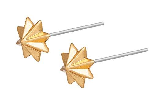 SENCE Copenhagen Damen Ohrringe Gold - Summer Light 2020 Serie Star Earstuds Ohrstecker Sterne Messing Matt Vergoldet - EL964g