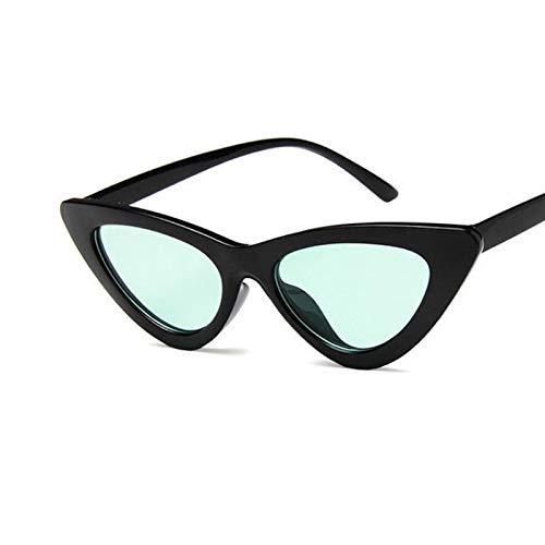 SCAYK Mujeres Gato Ojo triángulo Gafas de Sol Linda Dama Sexy Vintage Retro Gafas Moda Gafas de Sol UV400 Gafas de Sol Gafas de Ojos Moda Gafas de Sol para Las Mujeres (Lenses Color : C7Green)