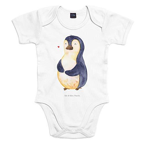 Mr. & Mrs. Panda Babysuit, Strampler, 3-6 Monate Baby Body Pinguin Diät - Farbe Transparent