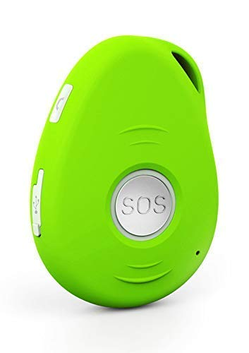 AnteaMED oppla' Sistema de Llamadas de Emergencia y SOS para Personas Mayores con gsm, GPS, Detección de Caídas y Base de Carga… (Verde)