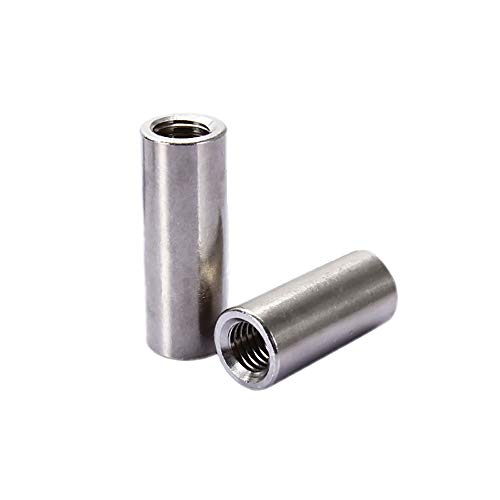 Smartsails Round Connector Nuts M8x30x12mm Threaded Insert Tube Adapter 304 Stainless steel Round Connector Nuts 5Pcs