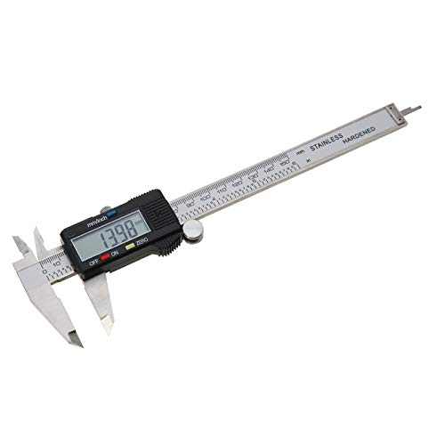AMTAST Vernier Caliper Durable Stainless Steel Measuring Tool Scale Range 0 to 6 inch/150mm